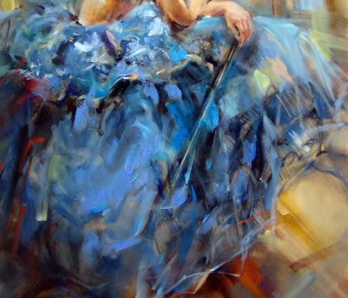 Dancing with a Violin 3 Oil Painting by Anna Razumovskaya
