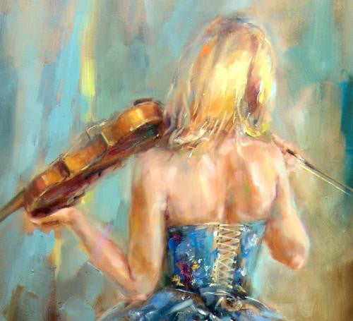Dancing with a Violin 4 Oil Painting by Anna Razumovskaya