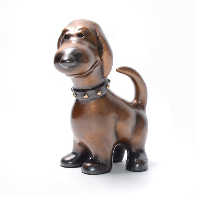 Eliot Bronze dog by Marty Goldstein