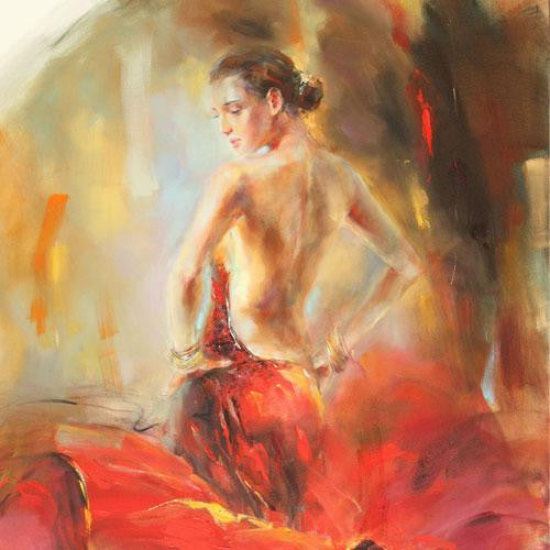 Estampa Oil Painting by Anna Razumovskaya