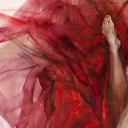 Falling in Love Oil Painting by Anna Razumovskaya