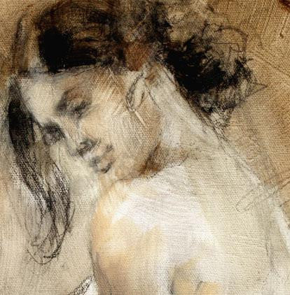 Flamenco (Sepia 2) Oil Painting by Anna Razumovskaya