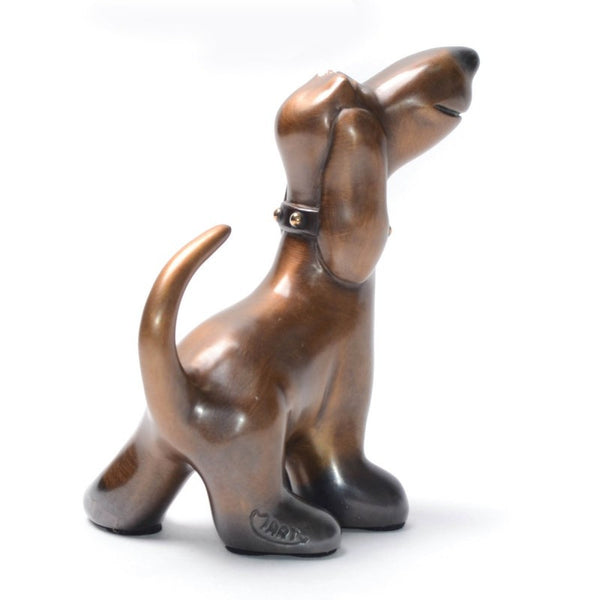 Harriet bronze dog by Marty Goldstein