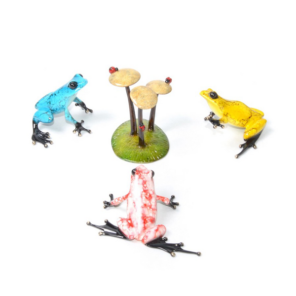 High Tea bronze frog set by Tim Cotterill