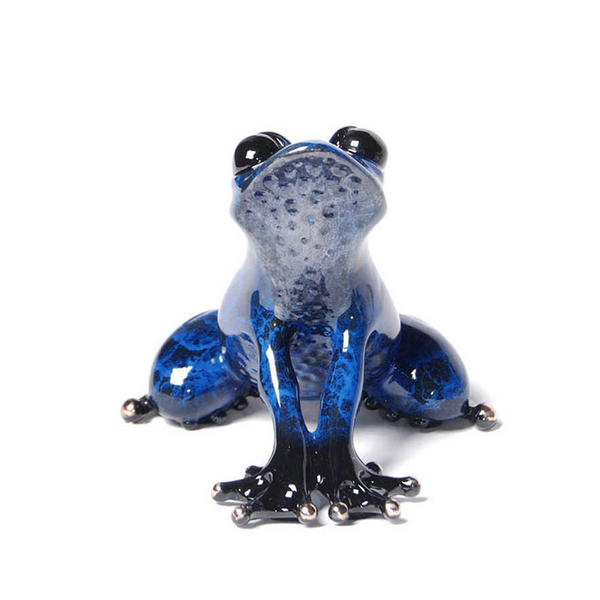 Indigo bronze frog by Tim Cotterill