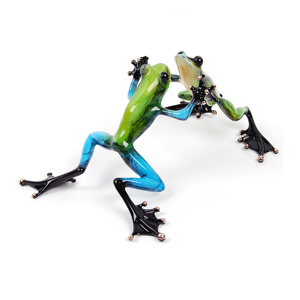 Jitterbug bronze frogs by Tim Cotteril