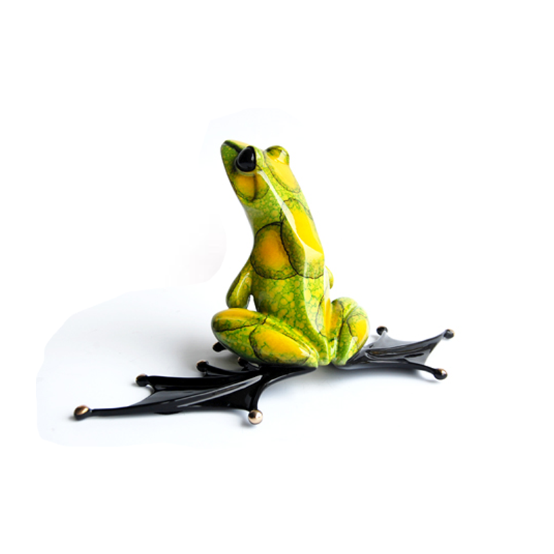 Jump Start bronze frog by Tim Cotterill