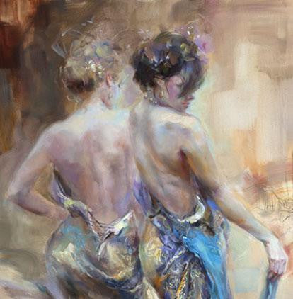 La Belle Epoque Oil Painting by Anna Razumovskaya