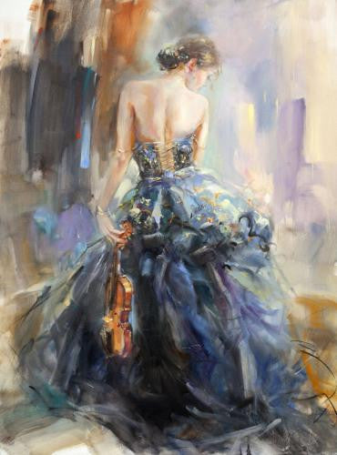 Love Story Oil Painting by Anna Razumovskaya