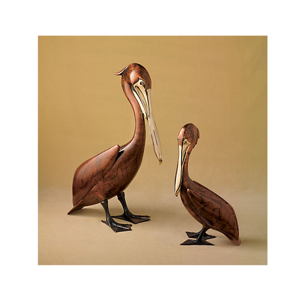 Medium Pelican Standing bronze by Brian Arthur