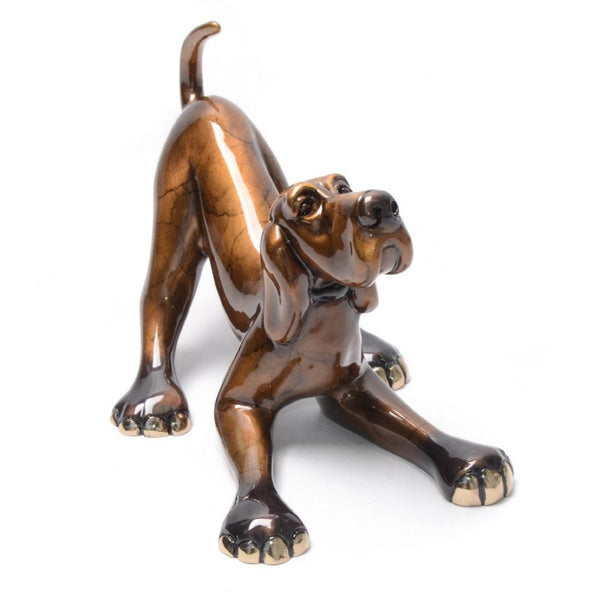 Medium Sylvester bronze dog by Marty Goldstein
