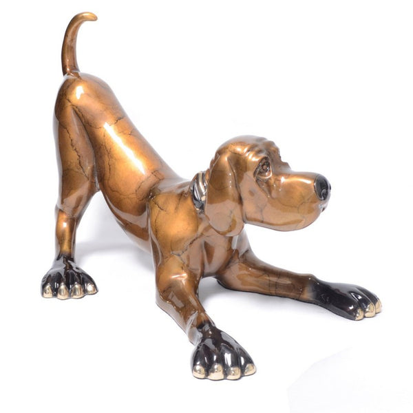 Mini Sylvester bronze dog by Marty Goldstein