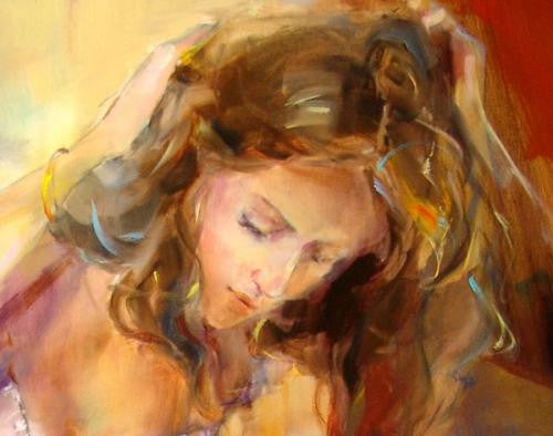 Morning Angel Oil Painting by Anna Razumovskaya