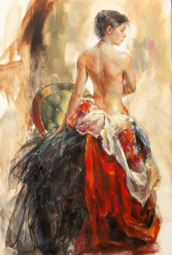 Muse Oil Painting by Anna Razumovskaya