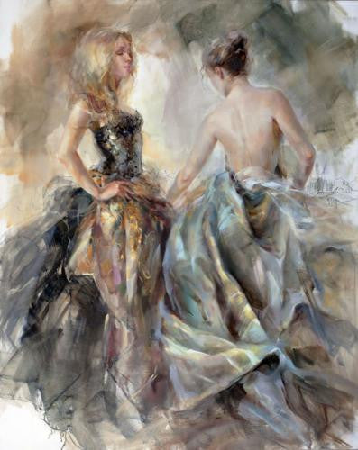 New Moon Oil Painting by Anna Razumovskaya