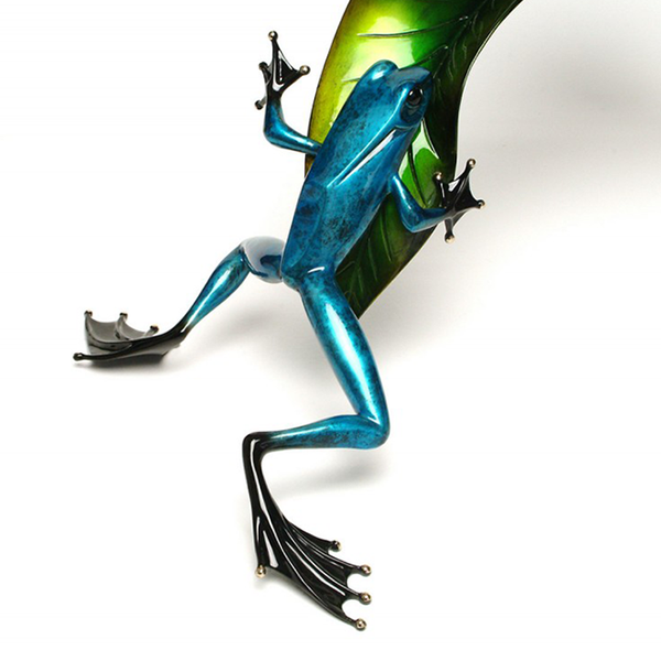 Over the Top bronze frog by Tim Cotterill