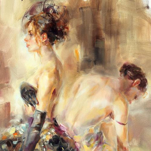 Parisian Nights Oil Painting by Anna Razumovskaya