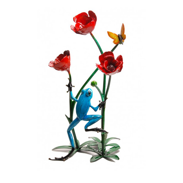 Poppy bronze frog by Tim Cotterill