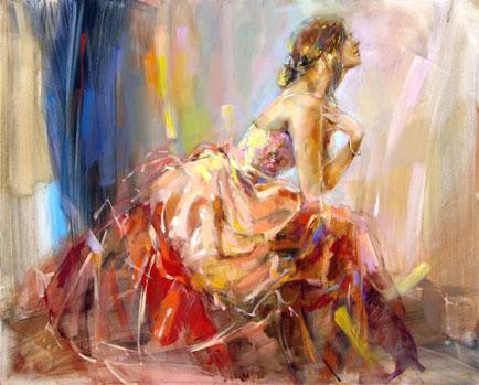Praying for Love Oil Painting by Anna Razumovskaya