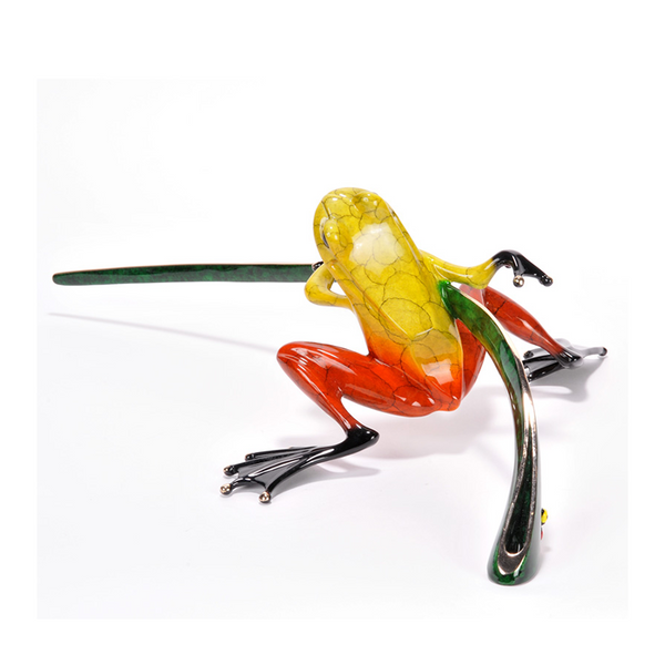 Ready, Set, Go bronze frog by Tim Cotterill