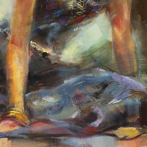 Resting Moment Oil Painting by Anna Razumovskaya