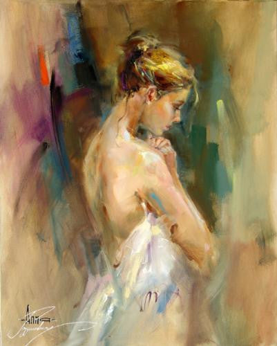 Silent Prayer Oil Painting by Anna Razumovskaya