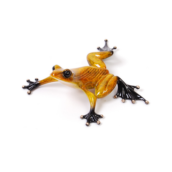 Sneaky Pete bronze frog by Tim Cotterill