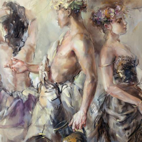 The Feast of Bacchus Oil Painting by Anna Razumovskaya