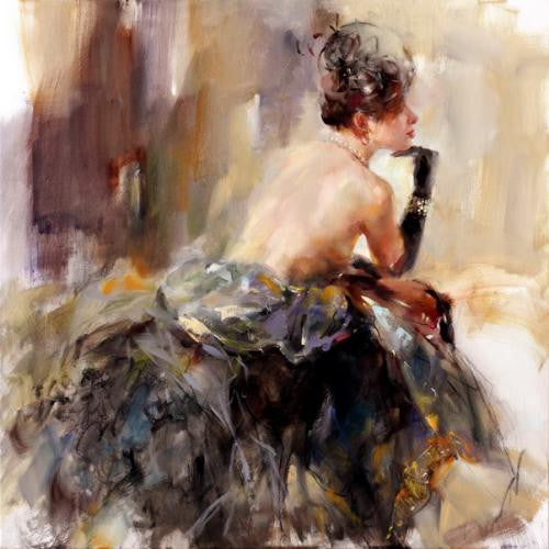 Transparent Memories Oil Painting by Anna Razumovskaya