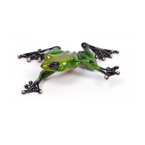 Twister bronze frog by Tim Cotterill