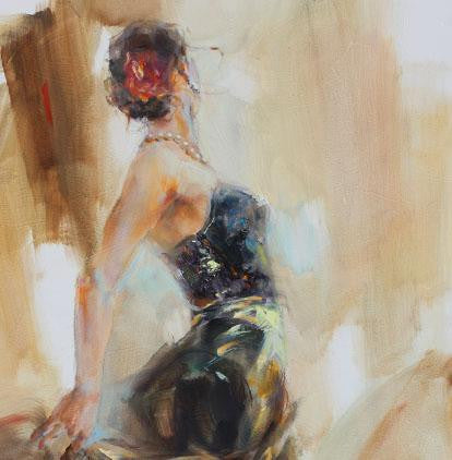 Unfolding Dance 1 Oil Painting by Anna Razumovskaya