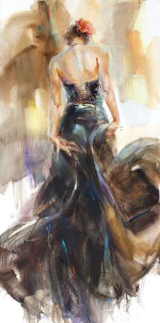 Unfolding Dance 2 Oil Painting by Anna Razumovskaya