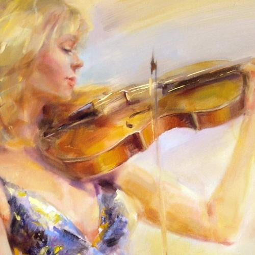 Wild Strings Oil Painting by Anna Razumovskaya