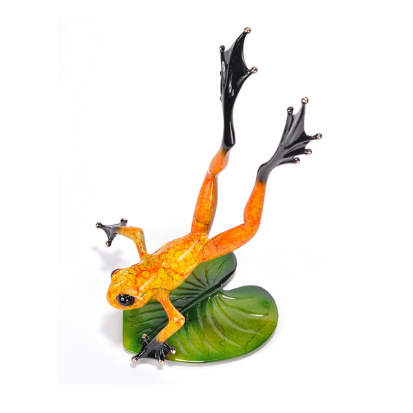 Zest bronze frog by Tim Cotterill