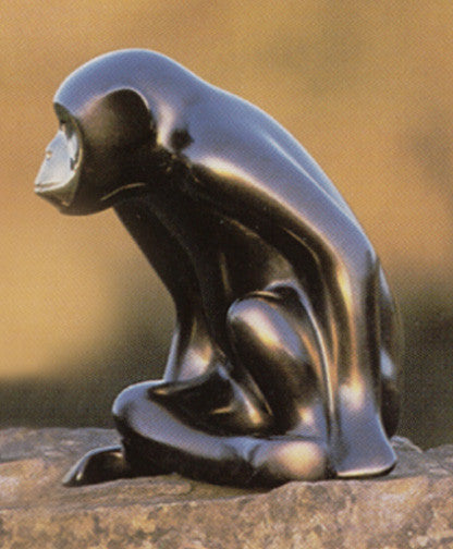 Chimp bronze by Loet Vanderveen