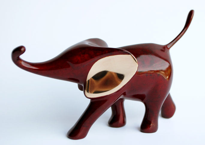 Elephant Small Running bronze by Loet Vanderveen