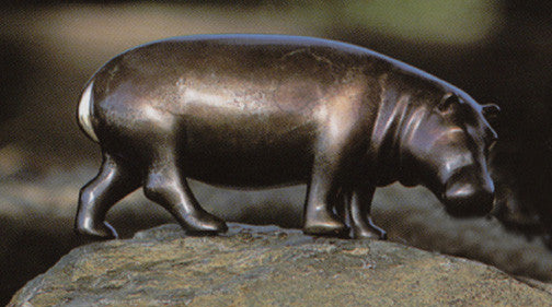 Hippo Small bronze by Loet Vanderveen