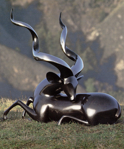 Kudu Greater bronze by Loet Vanderveen