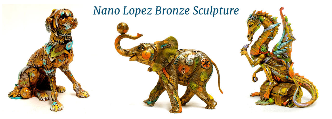 Nano Lopez Bronze Sculpture
