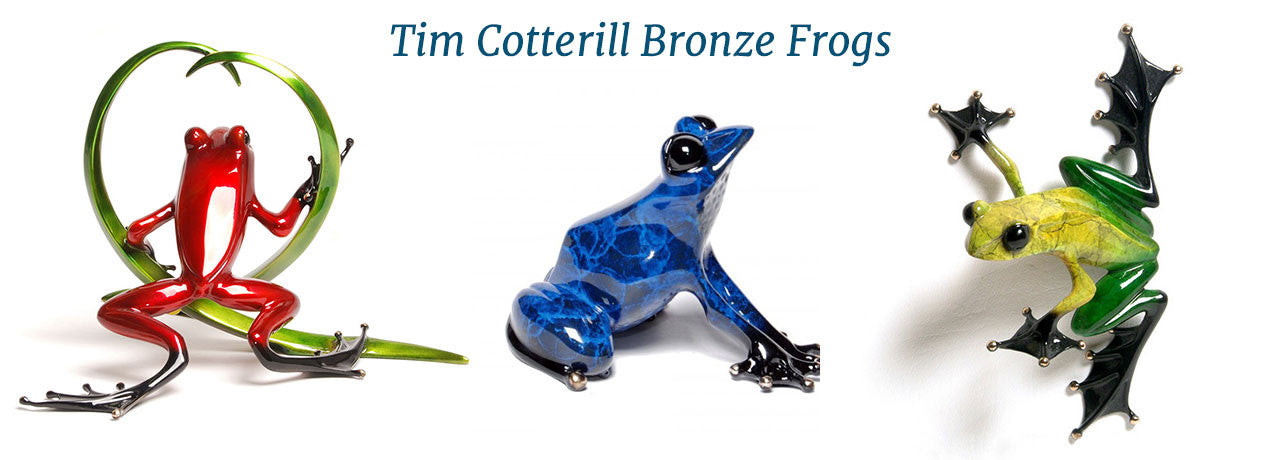 Tim Cotterill Bronze Frogs