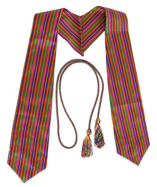 Rainbow Graduation Stole Bundle from Impress My Parents