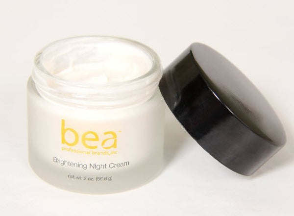 Bea Skincare™ - Brightening Night Cream With Natural Licorice, White Lotus Flower, Cypress Nut And Malt Extract, Vitamins A, C & E And Glucosamine (.90 Fl.oz.)