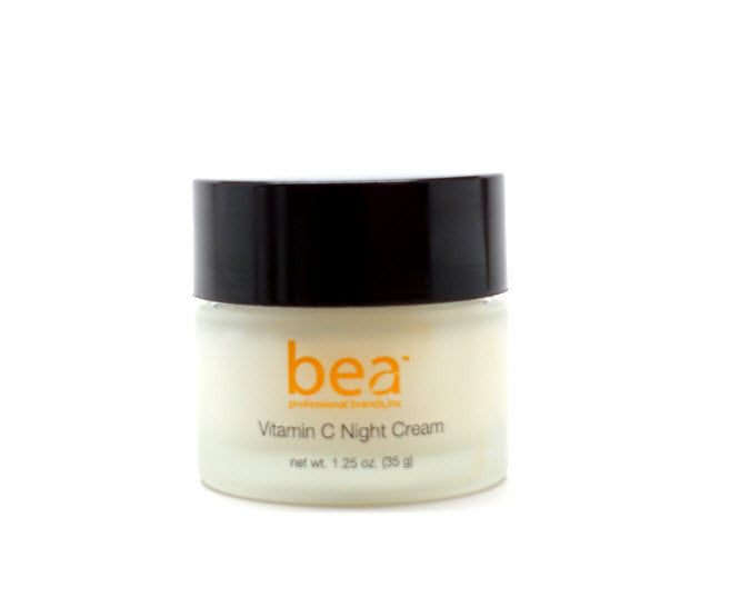 Bea Skincare and Cosmetics-- Vitamin C Night Cream with Centella Asiatica & Echinacea Extracts, Ceramides, Comfrey, Green Tea & Chamomile Extracts