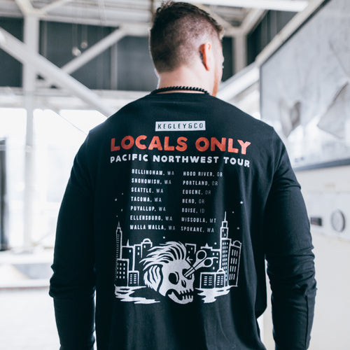 """Locals Only"" Long-Sleeve T-Shirt in Black"