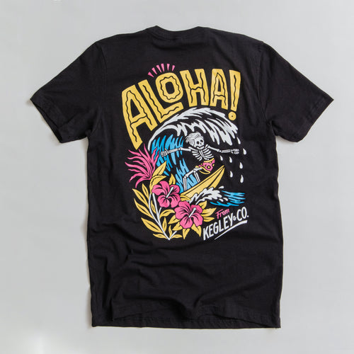 """Aloha"" T-Shirt in Vintage Black"