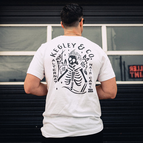 """Kegley & Co."" Signature T-Shirt in White"
