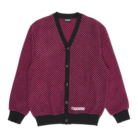 Pleasures Alliance Checkered Cardigan