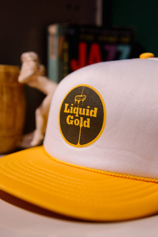 Liquid Gold Mesh Trucker Hat