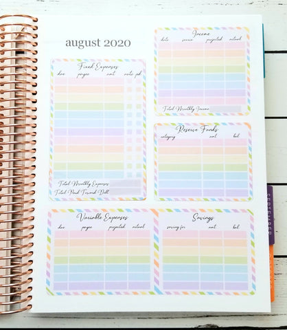 NoteBlox ~ Budget Kit for Monthly Notes Page