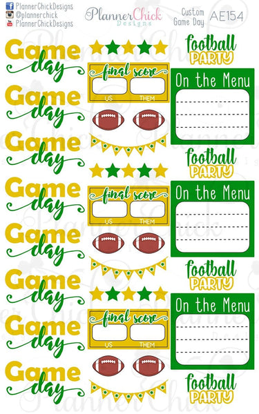 Custom Game Day Stickers